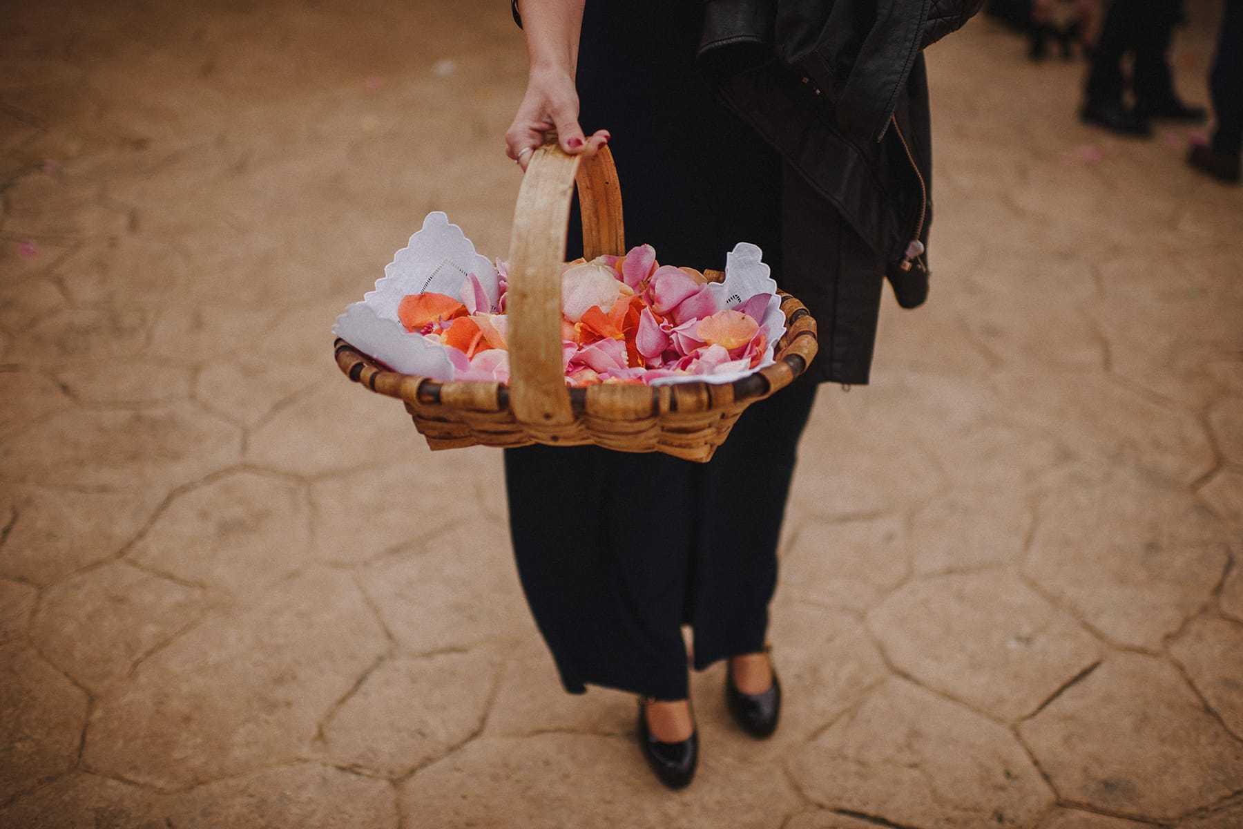 Pétalos para boda
