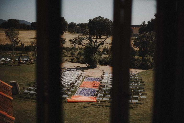 Espacio para la ceremonia civil en la finca Aldeallana