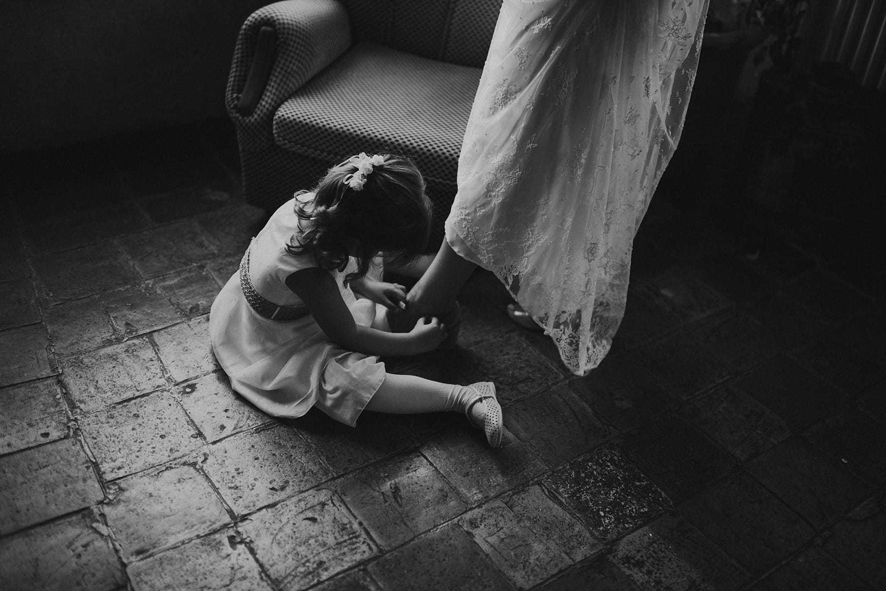 Pequeña ayudante de boda