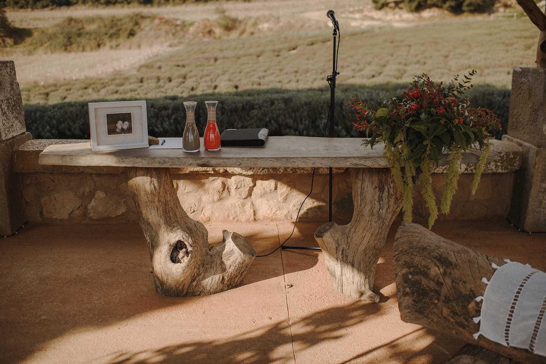 Altar en la Masía Brugarolas