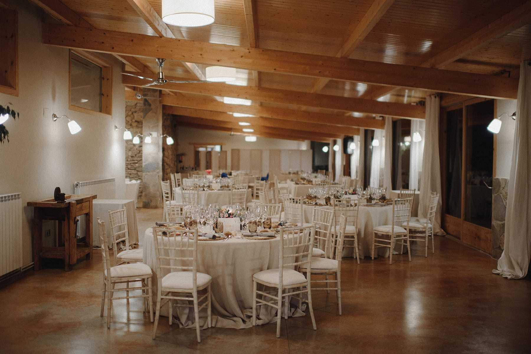 Salón de boda en la Masía Brugarolas
