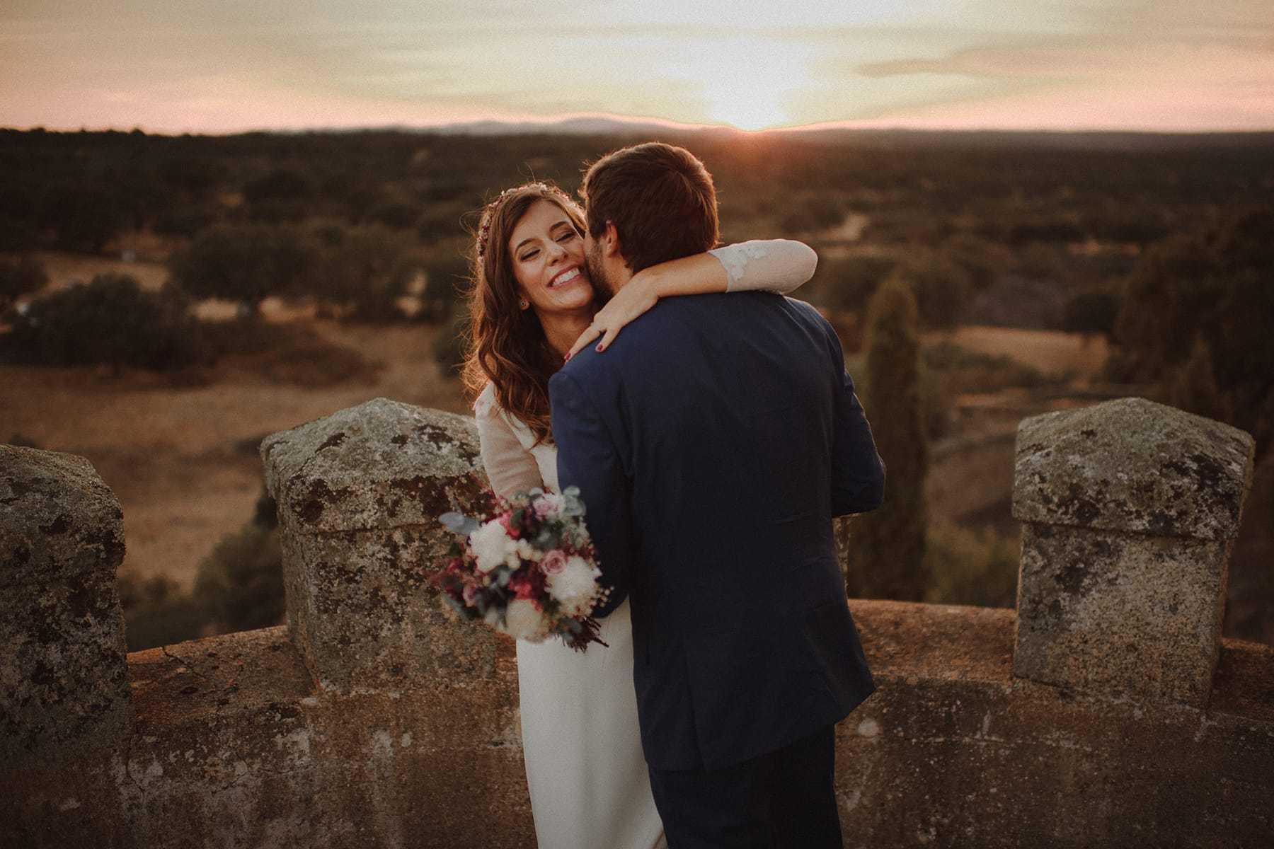 Fotos de pareja en el Castillo de Piedrabuena