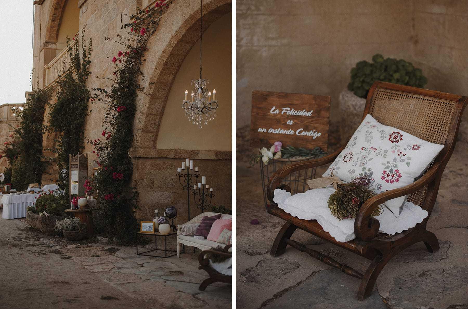Decoración en el Castillo de Piedrabuena