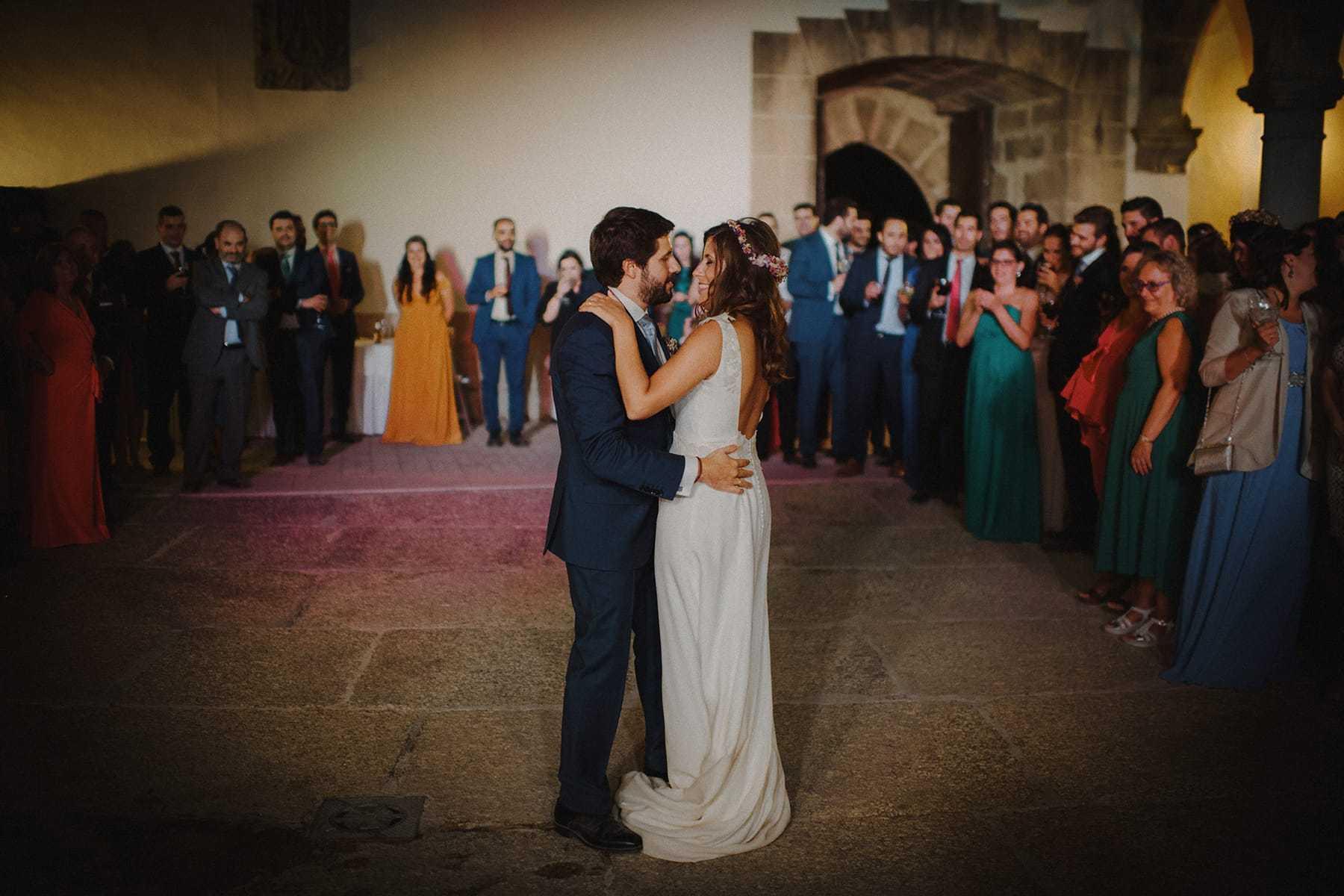 Baile de novios en el Castillo de Piedrabuena