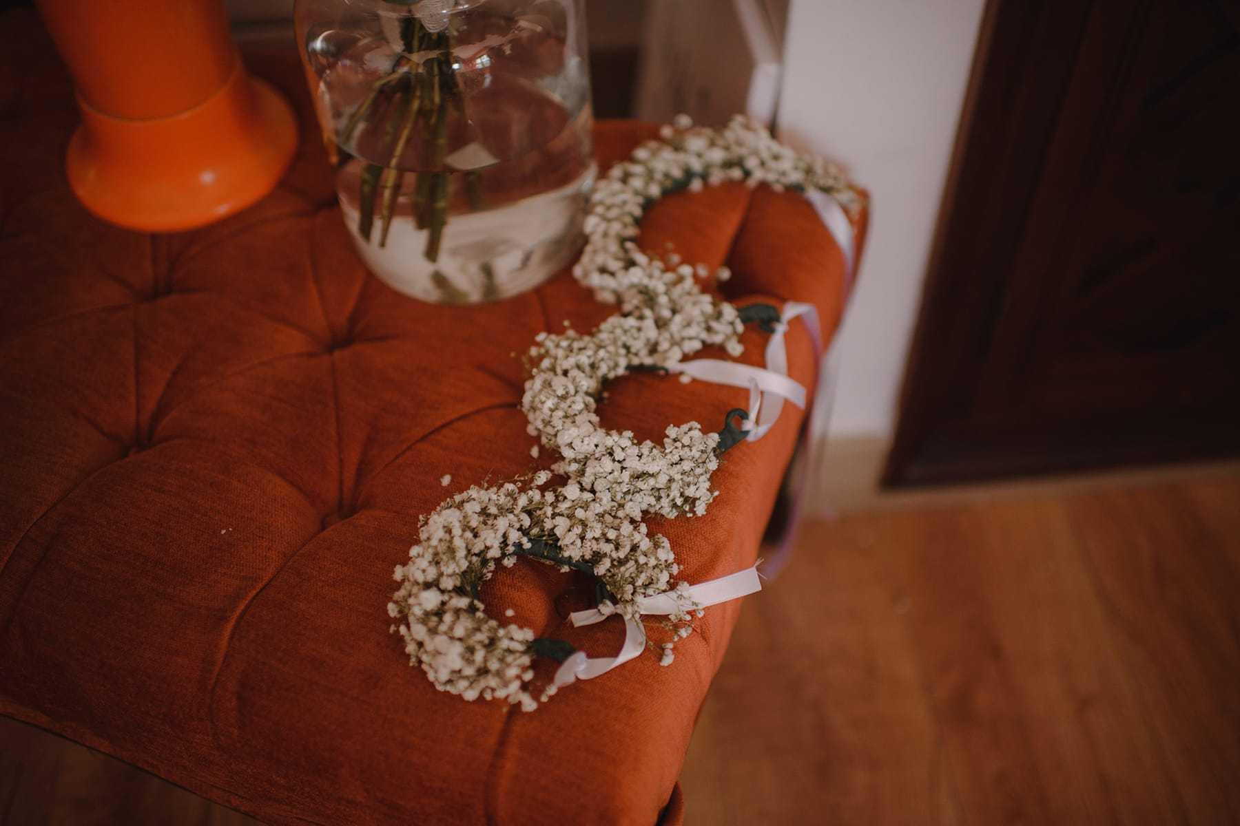 Brazaletes de flores de las damas de honor