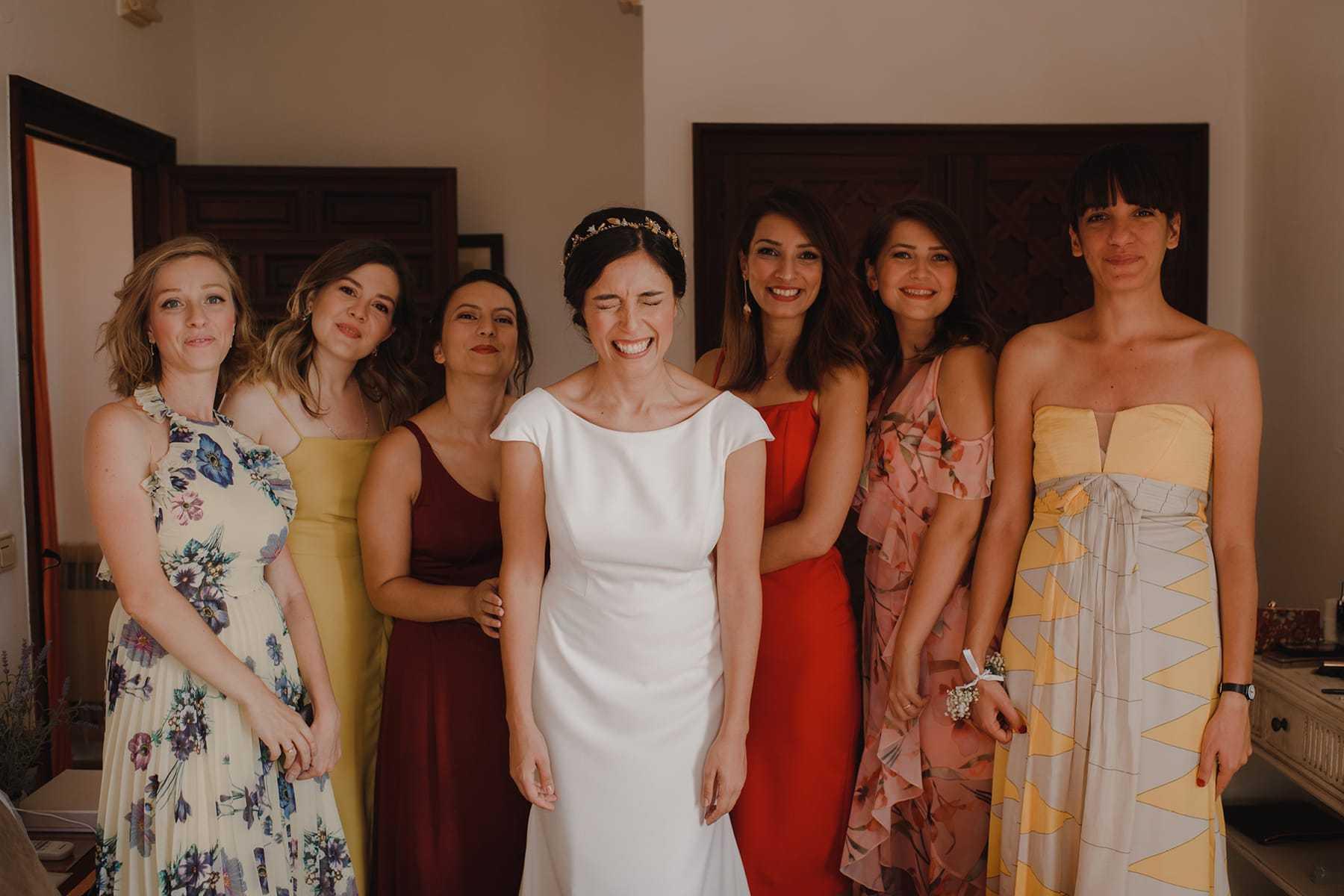 Novia con damas de honor