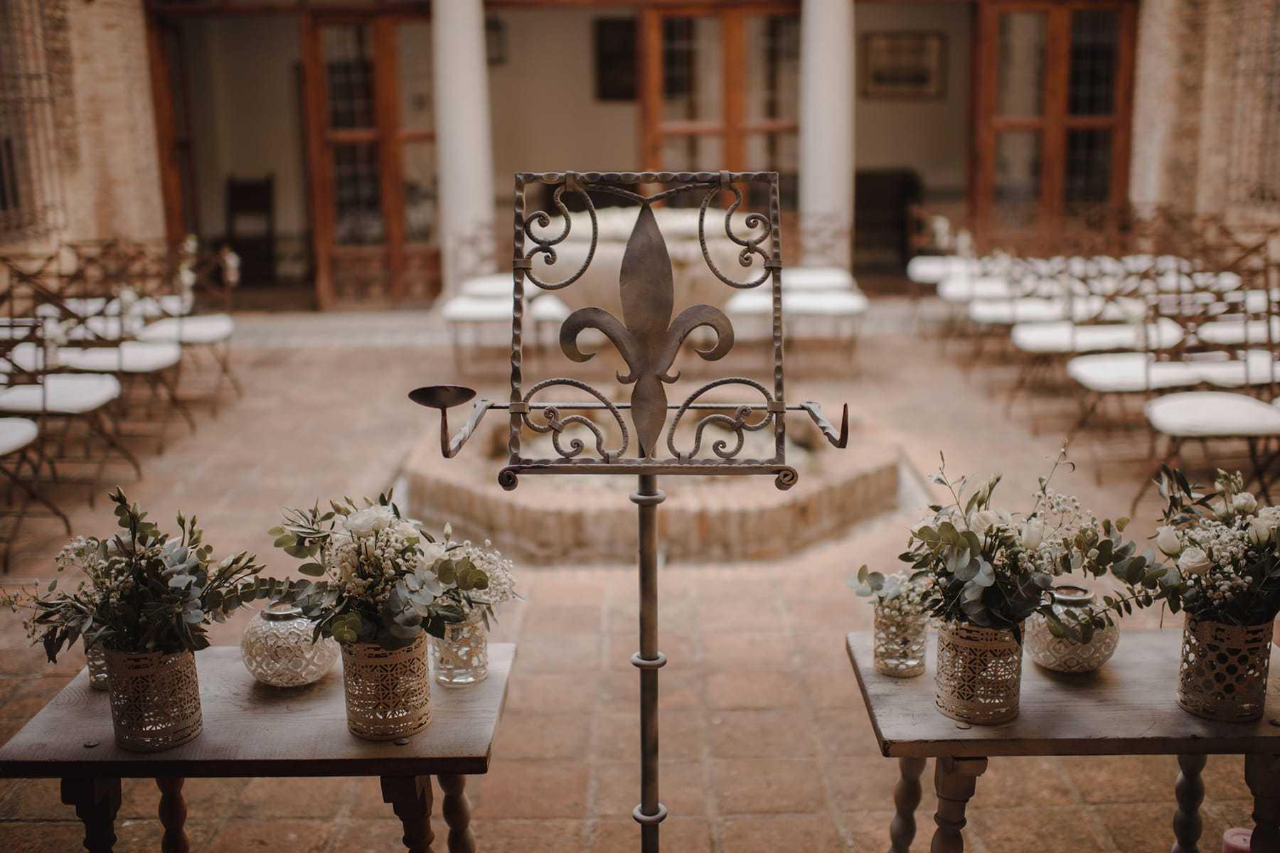 Decoración de la boda en la Hacienda del Cardenal