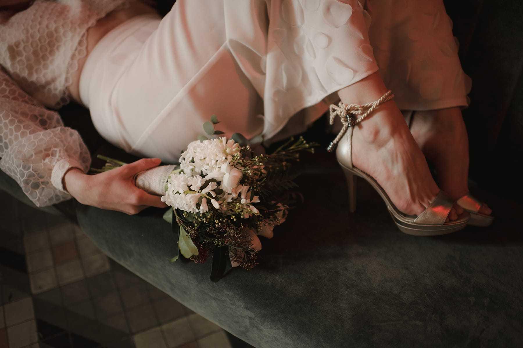Zapatos de novia de Clara Rosón