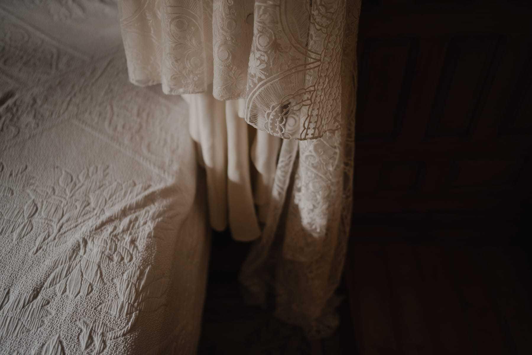 Detalle del vestido de Clara Brea