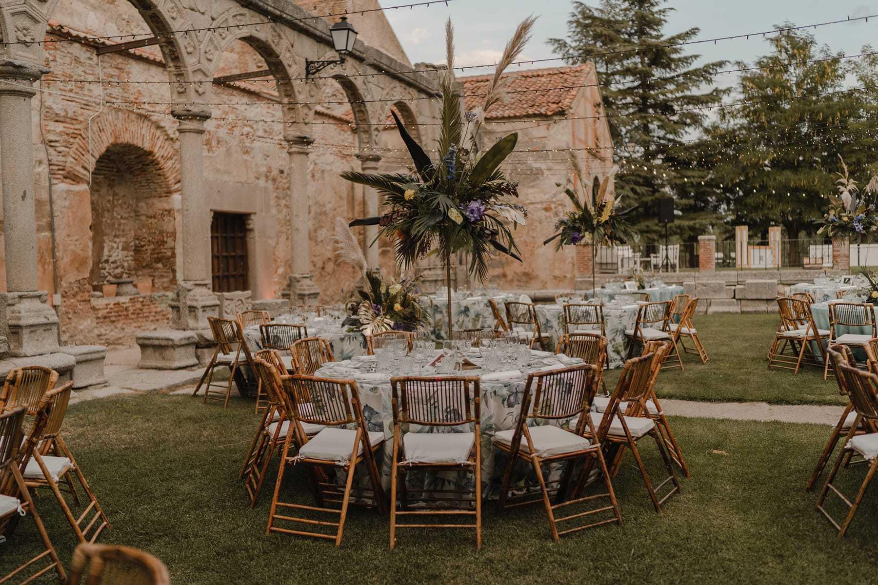 Decoración celebracion en la Abadia de Párraces